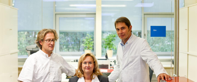 Dr. Ivanic, Dr. Harter und Fr. Purgstaller am Empfang