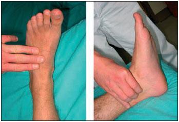 Abb. Fühlen der Fußpulse
